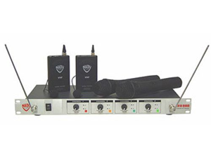 Nady 401XQUAD Wireless 4 Ch Mic Sys 2 Hand & 2 Lav VHF Wireless Combo Mic System