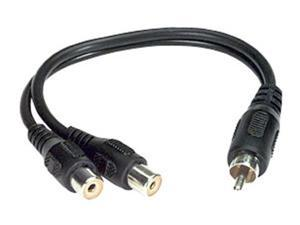Y-Cable RCA (M) to Dual RCA (F) Cable Adapter