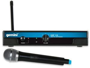 Gemini UHF-116M UHF Handheld Wireless System UHF Handheld Wireless Mic System
