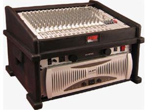 Gator GDJ8X4 8X4 Slant Top Mix Station Rack Case Top Mixer Combo Rack