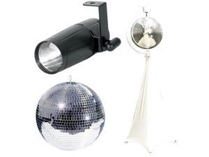 "Eliminator Lighting 16"" Mirrorball w/ Stand & LED Spot Pack"