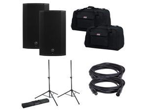 Mackie Thump12A Speakers w/ Gator Totes & Stands