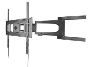 Loctek Black Ultra Slim Full Motion Tilt Swivel Articulating Flat Panel TV Wall Mount Bracket for 37''-55'' LED/LCD TV