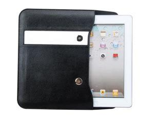 Loctek Black PU Leather Case Cover Wallet Sleeve For Apple iPad 2