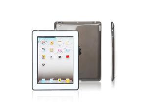 Loctek Stylish TPU Case Cover Sleeve Wallet for Apple iPad 2 Transparent Transparent Gray Color