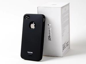 Loctek Black Sillicone Rubber Cover Case Skin For Apple iPhone 4 4G