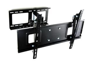 Homemounts HM005A Black Low Profile Steel Solid Articulating 32''-50'' LCD LED PDP TV Wall Mount Bracket