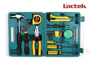 LOCTEK 15-in-1 15pc Complete Home Use Tools Set Kits Portable Hardware Tool Kits Hand Tools Set Combination Tools Set HTS001HTS001