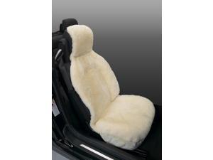 Genuine Australian Sheepskin Sideless Seat Cover - Albino Aka Champagne