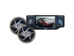 Absolute DMR-455TPKGdd 4.5-Inch In Dash TFT/LCD Multimedia Player with 6.5-Inch Speaker Package