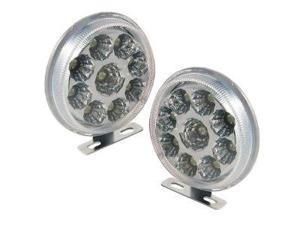Absolute DRL9CW Round Shape 9 LED Spotlight Daytime Running Lights Kits