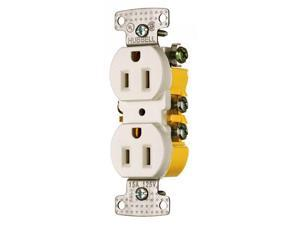 Hubbell RR15I Duplex Receptacle, Ivory