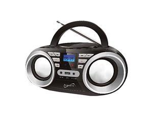 Supersonic MP3/CD Player FM Radio Portable Stereo Boombox (Black) SC506