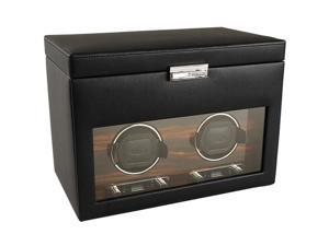 Wolf Designs Roadster Double Watch Winder with Cover & Storage