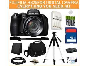 Fujifilm FinePix HS25EXR Digital Camera, Everything You Need Kit, 16243252