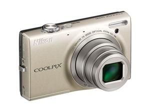 Nikon COOLPIX S6100 Silver 16.0 MP 7X Optical Zoom 28mm Wide Angle Digital Camera (26269)