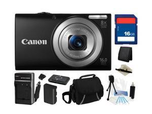 Canon PowerShot A4000 IS (Black) 16.0 MP 8X Optical Zoom 28mm Wide Angle Digital Camera with 720p HD Video Recording, Everything ...
