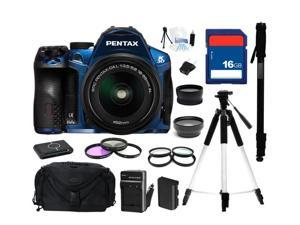 PENTAX K-30 Lens Kit Blue 16.3 MP Digital SLR with 18-55mm Lens, Everything You Need Kit, 15758