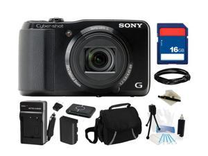 SONY Cyber-shot DSC-HX20V/B Black 18 MP 20X Optical Zoom Digital Camera, Everything You Need Kit, DSCHX20V/B