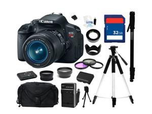 Canon EOS T4i 18.0 MP CMOS Digital SLR with 18-55mm EF-S IS II Lens, Everything You Need Kit, 6558B003