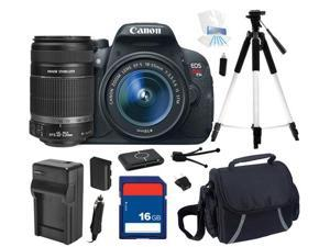 Canon EOS Rebel T5i DSLR Camera with EF-S 18-55mm f/3.5-5.6 IS STM Lens & Canon EF-S 55-250mm f/4-5.6 IS II Lens for Digital ...