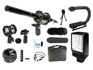 Microphone Complete Camcorder Kit for Canon EOS Rebel 650D T4i Kiss X6i DC410 DC420 DC50 Camcorder ZR850 ZR90 ZR900 ZR930 ...