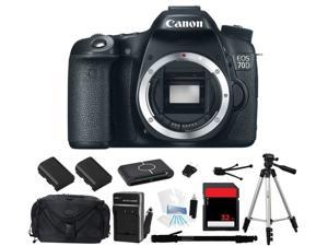 Canon EOS 70D 18.0 MP Digital SLR Camera (Body Only) (Everything You Need Kit)