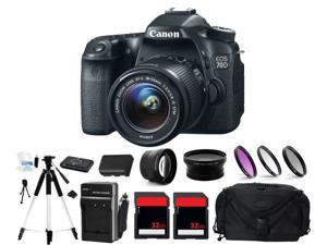 Canon EOS 70D Digital Camera + 3 Lens 18-55mm + 64GB Complete Bundle Kit