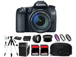 Canon EOS 70D Digital Camera + 3 Lens 18-135mm + 48GB Complete Bundle Kit