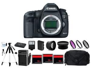 Canon EOS 5D Mark III DSLR Black (Body Only) + 2 Lens + 80GB Complete Flash Kit