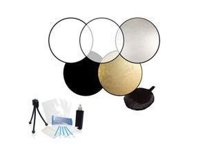 """Professional 32"""" Collapsible Reflector Disk 5-in-1 Kit for Nikon D7000, D7100 S1"""