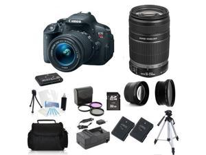 Canon EOS Rebel T5i + 18-55mm + 55-250mm + (Advance Holiday Bundle Kit)