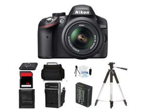 Nikon D3200 Digital SLR Camera plus 18-55mm VR Lens (Body Birthday Bundle)