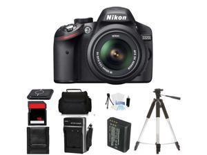 Nikon D3200 Digital SLR Camera plus 18-55mm VR Lens (Body Birthday Bundle)