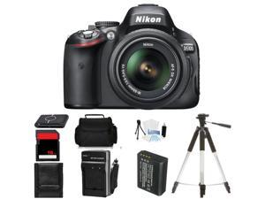 Nikon D5100 Digital SLR Camera w/18-55mm Lens Body Beginner Birthday Bundle