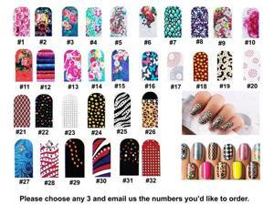 3 x 3D Nail Art Patch Foils Decal Stickers Tips Wraps Acrylic Sheet DIY Decorations wholesale Lot