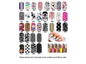 3 x Nail Art Patch Foils Decal Stickers Tips Wraps Acrylic Sheet DIY Decorations wholesale Lot