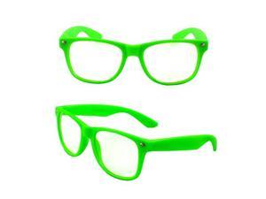 Stylish Wayfarer Sunglasses Green Design with Clear Lenses for Women and Men