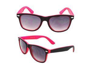 Wayfarer Fashion Sunglasses 351 Rubber Coating Black with Pink Frame Purple Black Lenses for Women and Men