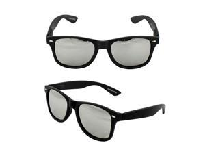 MLC Eyewear Wayfarer Fashion Fashion Sunglasses 222MBM Black Frame Smoke Mirror Lenses for Women and Men