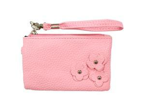 Fashion PU Multi-purpose Wallet / Coin Purse Light Pink Floral Design