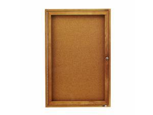 Quartet QRT363 Cork Boards- 1 Door- 2ft.x3ft.- Oak Frame
