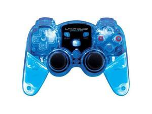 DREAMGEAR DGPN-524 PLAYSTATION 2 LAVA GLOW WIRELESS CONTROLLER (BLUE)