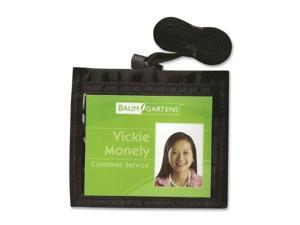 Baumgartens BAU55130 ID Neck Pouch- Convention- Adjustable 30in. Cord- 4in.x3in.- Black