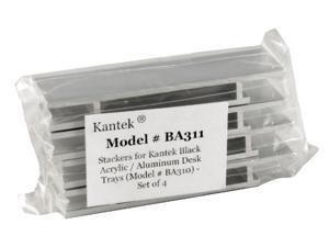 Kantek KTKBA311 Stacking Supports- Aluminum- 4-ST- Black-Acrylic