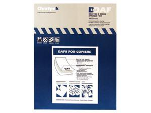 Chartpak DAF8 Self-Adhesive Drafting Applique Film, 8-1/2 x 11, Clear, 100/Box