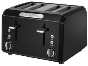 Black 1800-Watt 4-Slice Cool-Touch Toaster