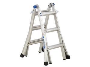 "Werner Aluminum Telescoping Ladder With ""J"" Lock"