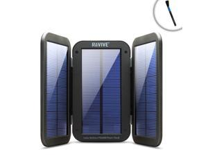 ReVIVE Solar Charger & Portable Battery Pack for Fishing - Includes Cleaning Brush