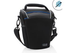 USA Gear Portable Top Loading Digital SLR Camera Bag - Works with Olympus OM-D E-M1 , PEN E-P5 , E-PL5 , SZ-16 iHS / Panasonic ...
